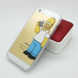 Obal Homer Simpson pro iPhone 5, 5s, iPhone SE, transparentní - poslední kus!