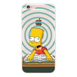 Obal Bart Simpson pro iPhone 5, 5s, iPhone SE, transparentní - poslední kus