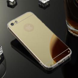Stylový zrcadlový obal pro iPhone 5, 5s, iPhone SE, zlatá