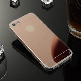 Stylový zrcadlový obal pro iPhone 5, 5s, iPhone SE, rosegold - zvìtšit obrázek