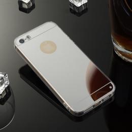 Stylový zrcadlový obal pro iPhone 5, 5s, iPhone SE, støíbrná - zvìtšit obrázek