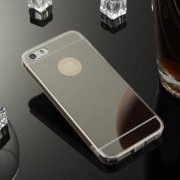 Stylový zrcadlový obal pro iPhone 5, 5s, iPhone SE, èerná - zvìtšit obrázek