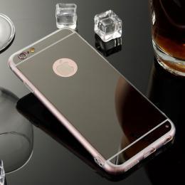 Stylový zrcadlový obal pro iPhone 6, 6s, èerná - zvìtšit obrázek