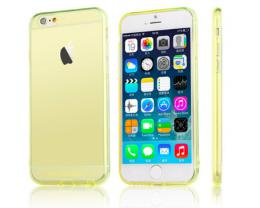 Silikonový obal na iPhone 0,3 mm pro iPhone 5, 5s, iPhone SE, zlatá