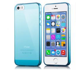 Silikonový obal na iPhone 0,3 mm pro iPhone 5, 5s, iPhone SE, modrá