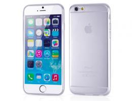 Silikonový obal na iPhone 0,3 mm pro iPhone 6, 6s, transparentní