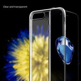 Silikonový obal na iPhone 0,3 mm pro iPhone 7, transparentní
