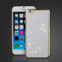 Transparentní plastový obal se zlaceným motivem pro iPhone 6 PLUS, 6s PLUS - poslední kus!