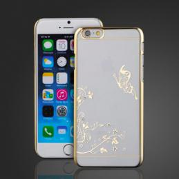 Transparentní plastový obal se zlaceným motivem pro iPhone 5, 5s, iPhone SE