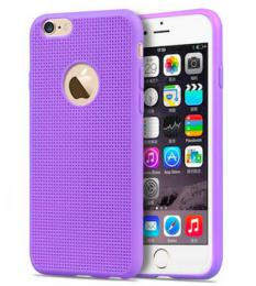 Silikonový obal pro iPhone 5, 5s, iPhone SE, fialový
