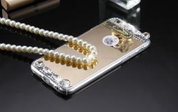 Dámský elegantní zrcadlový kryt s kamínky pro iphone 5, 5s, iPhone SE