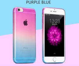 Silikonový obal na iPhone 6, 6s, fialovo modrý