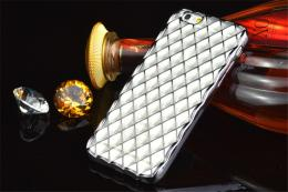 Luxusní slikonový obal s kovovým møížkováním pro iPhone 5, 5s, iPhone SE, støíbrná