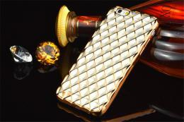Luxusní slikonový obal s kovovým møížkováním pro iPhone 5, 5s, iPhone SE, zlatá