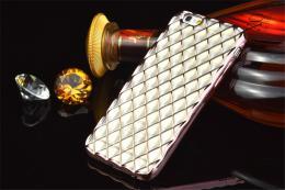 Luxusní slikonový obal s kovovým møížkováním pro iPhone 5, 5s, iPhone SE, rùžovozlatá