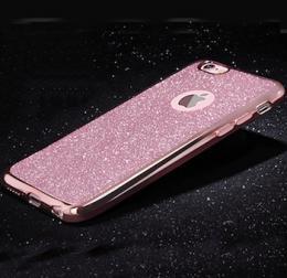 Silikonový obal na iPhone 5, 5s, iPhone SE se tøpytivým zadním blistrem, rùžová