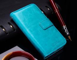 Kožené RETRO pouzdro na iPhone 5, 5s, iPhone SE, modrá