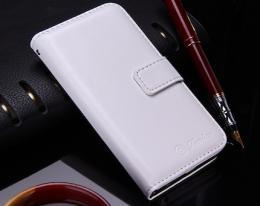 Kožené RETRO pouzdro na iPhone 5, 5s, iPhone SE, bílá
