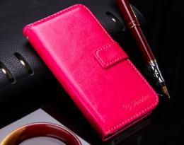 Kožené RETRO pouzdro na iPhone 5, 5s, iPhone SE, rùžová
