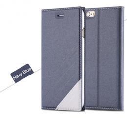 Kožené flip pouzdro pro iPhone 5, 5s, iPhone SE, námoøní modrá