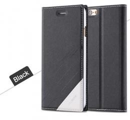 Kožené flip pouzdro pro iPhone 5, 5s, iPhone SE, èerná