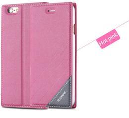 Kožené flip pouzdro pro iPhone 5, 5s, iPhone SE, rùžová