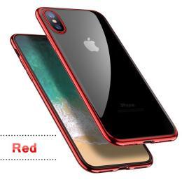 Silikonový ultratenký obal na iPhone X s pokovením, barva èervená - zvìtšit obrázek