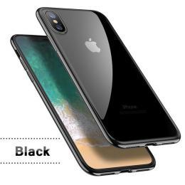 Silikonový ultratenký obal na iPhone X s pokovením, barva èerná - zvìtšit obrázek