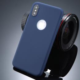 Ultratenký silikonový obal iPhone X modrý NAVY