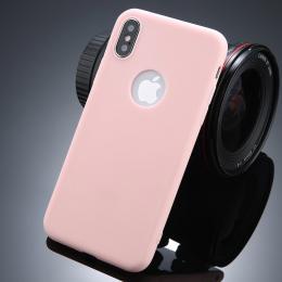 Ultratenký silikonový obal iPhone X rùžový