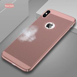 Obal na iPhone X z mìkèeného plastu rosegold