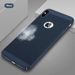 Obal na iPhone X z mìkèeného plastu modrý