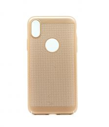 Obal na iPhone X z mìkèeného plastu zlatý