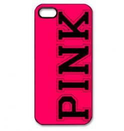Stylový obal s nápisem PINK na iPhone 5/5s, iPhone SE - poslední kus!