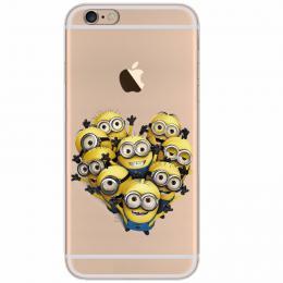 Silikonový kryt Mimoni na iPhone 5/5s, iPhone SE, transparentní