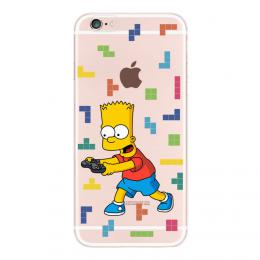 Obal Bart Simpson na iPhone 4, transparentní