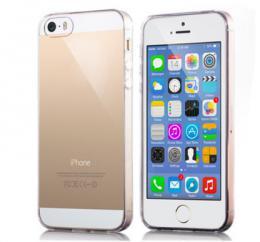 Silikonový obal 0,3 mm na iPhone 5/5s, iPhone SE, transparentní