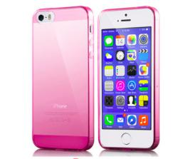 Silikonový obal 0,3 mm na iPhone 5/5s, iPhone SE, rùžový