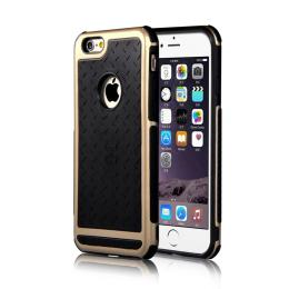 Nárazu odolný stylový obal na iPhone 6/6s, èerný se zlatým rámeèkem
