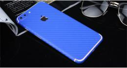 3D celotìlová carbon samolepka na iPhone 5/5s, iPhone SE, modrá