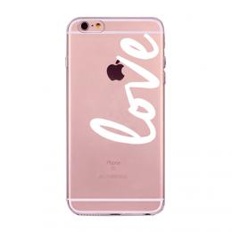 Silikonové transparentní pouzdro s nápisy na iPhone 5/5s, iPhone SE