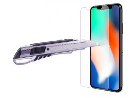 Tvrzené sklo na iPhone X, tvrdost 9H, tlouš�ka 0,3 mm