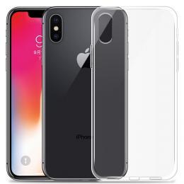 Silikonový obal 0,3 mm na iPhone X, transparentní