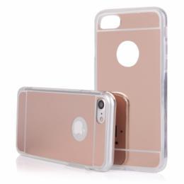 Stylový zrcadlový obal na iPhone 7, rosegold