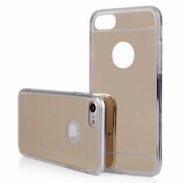 Stylový zrcadlový obal na iPhone 7, zlatý
