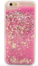 Obal na iPhone X, XS, nový hit obalu s tekutinou, barva rùžová