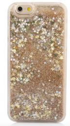 Obal na iPhone 5/5s, iPhone SE, nový hit obalu s tekutinou, barva zlatá