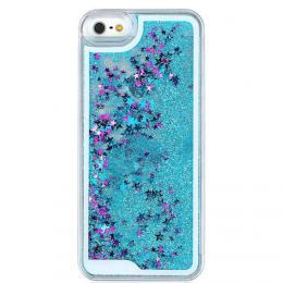 Obal na iPhone 5/5s, iPhone SE, nový hit obalu s tekutinou, barva modrozelená