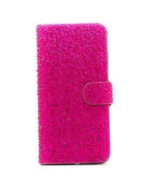 Elegantní dámské kožené Flip pouzdro s kamínky na iPhone 6/6s, barva rùžová - zvìtšit obrázek