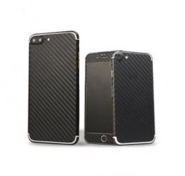 3D celotìlová carbon samolepka na iPhone 6/6s, èerná